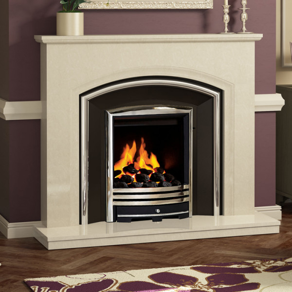 "Elgin & Hall Adalyn 52"" Marble Fireplace Suite"