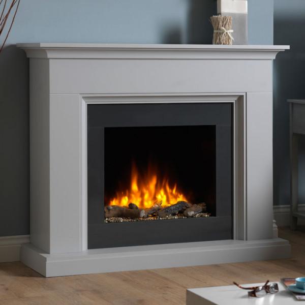 Katell Amalfi Terrano Grey electric fireplace suite