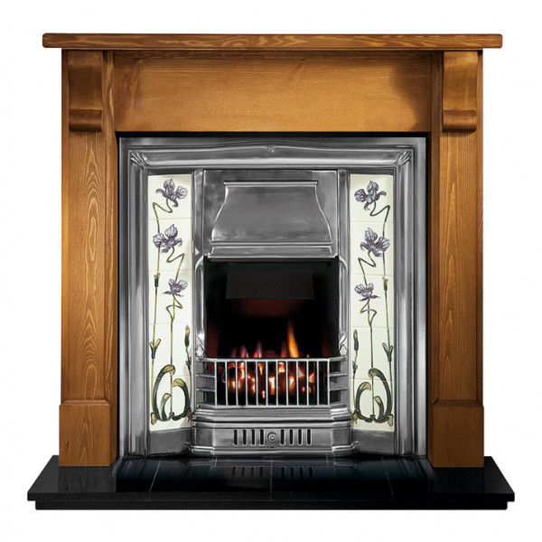 Gallery Bedford Wood Fireplace with Sovereign Cast Iron Tiled Insert