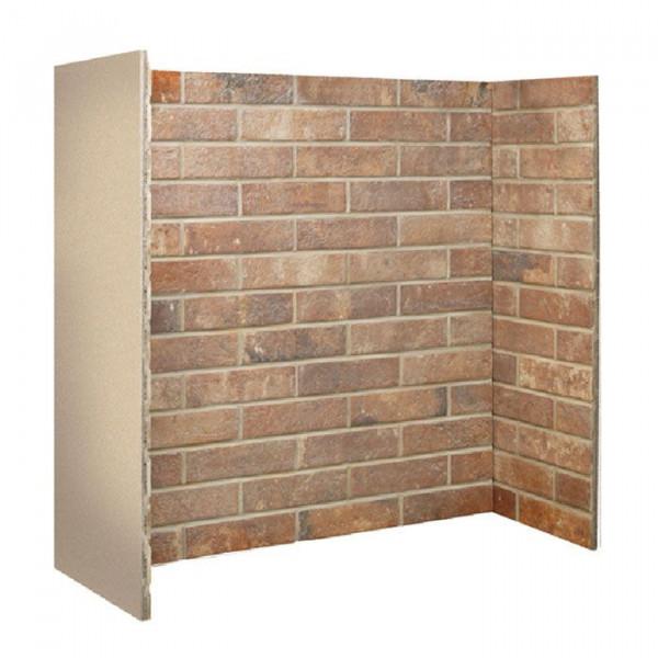 Gallery Ceramic Red Brick Fireplace Chamber