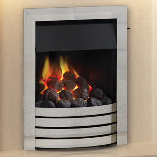 Cobalt Exclusive Gas Fire Brushed Steel