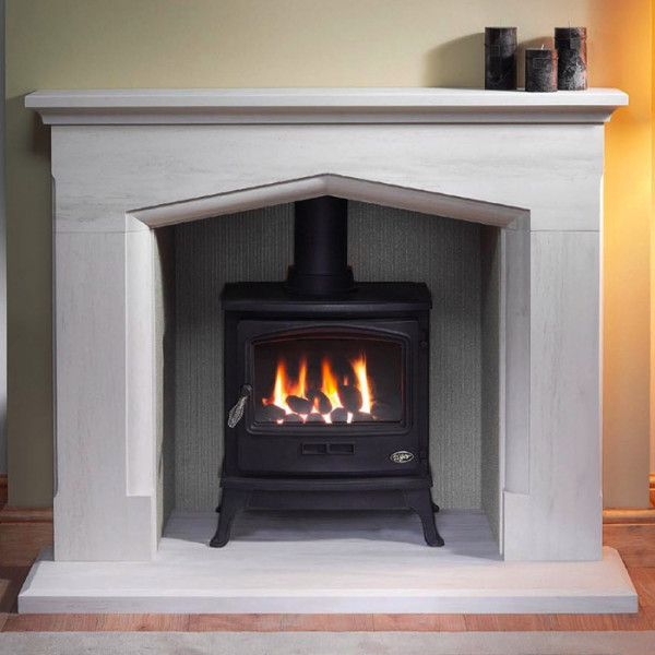 "Gallery Coniston 54"" Stone Inglenook Fireplace"