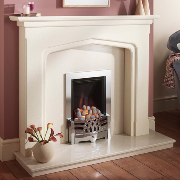 Crystal Diamond Inset Gas Fire