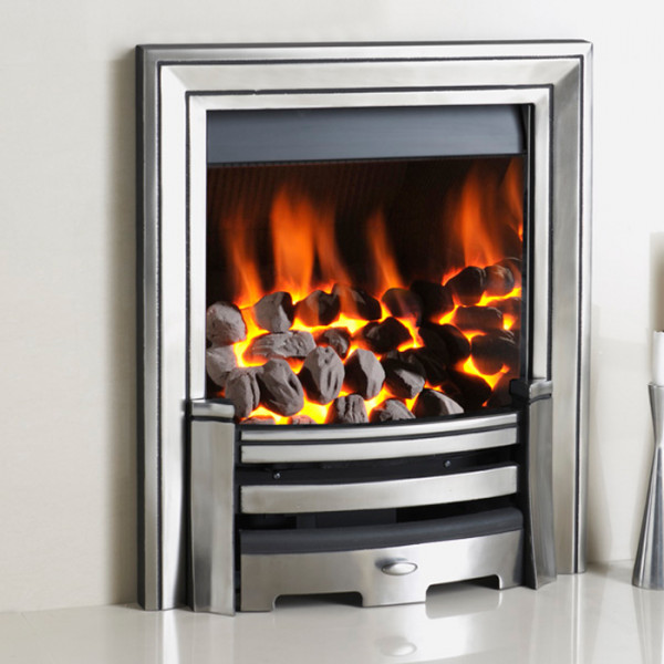 Crystal Gem with Monarch Trim Inset Gas Fire