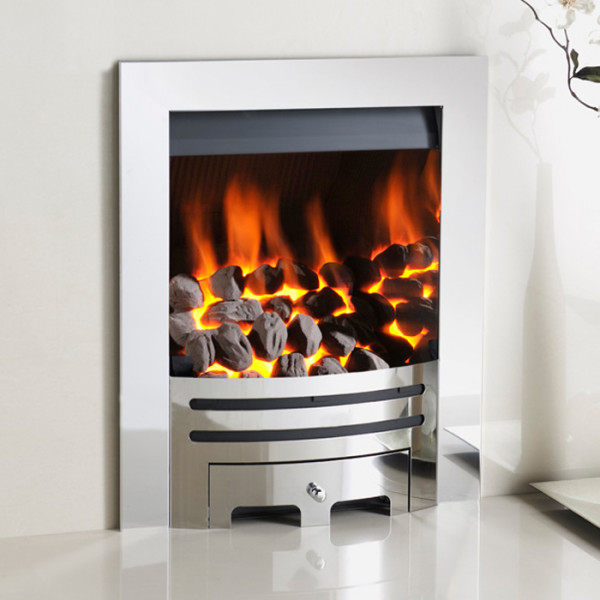 Crystal Gem with Grace Contemporary Inset Gas Fire