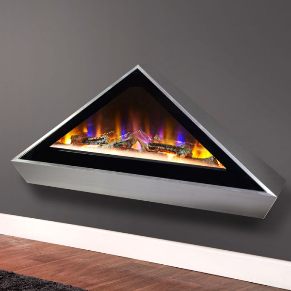 Louvre Wall Mounted Electric Fire Close Up