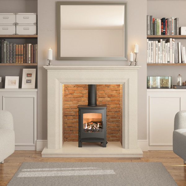 "Elgin & Hall Odella 54"" Inglenook Marble Fireplace Suite"