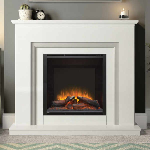 Embleton White Marble Suite with Grey Inlay