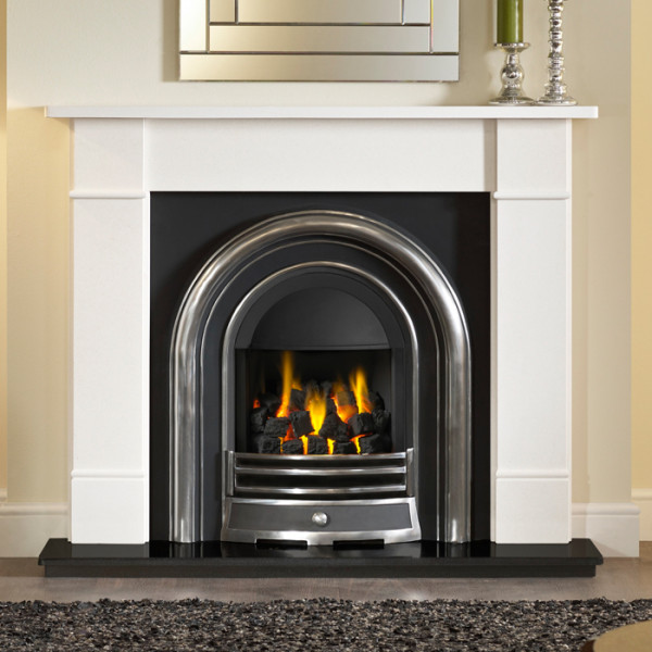 Cast In Place Chimney : Gallery brompton stone fireplace with efficiency plus