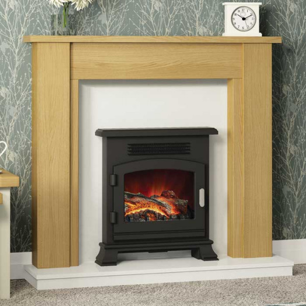 Buy Be Modern Hainsworth Natural Oak Fireplace