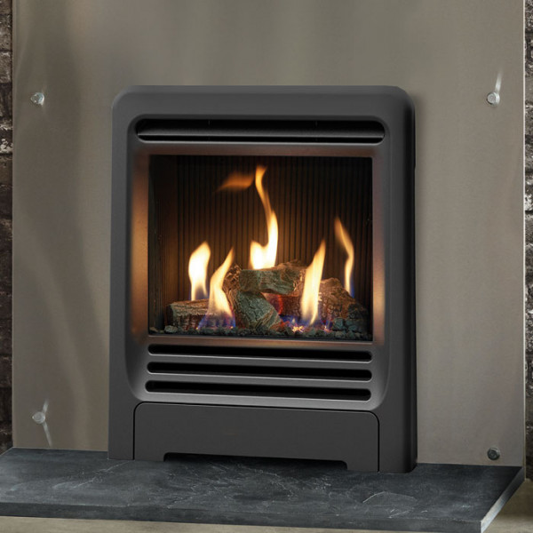 Buy Gazco Logic HE Inset Gas Fire with Beat Frame - Fireplaces Are Us