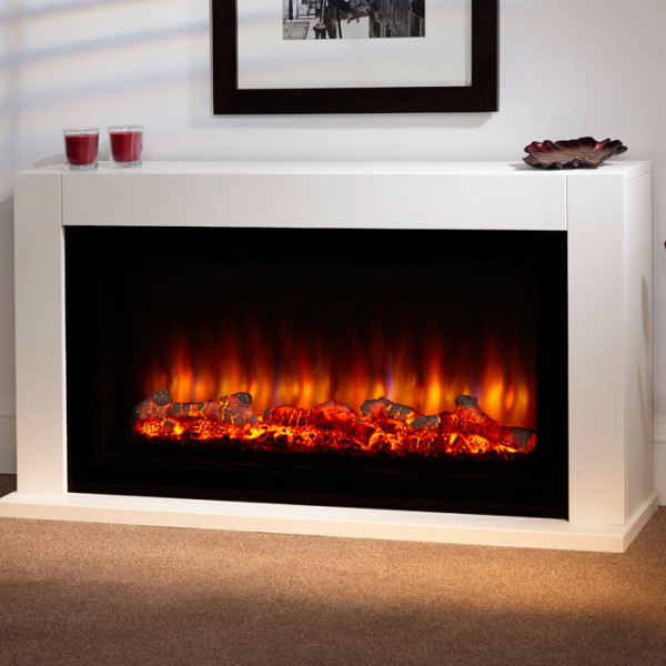 "Suncrest Lumley 48"" Electric Fireplace Suite"