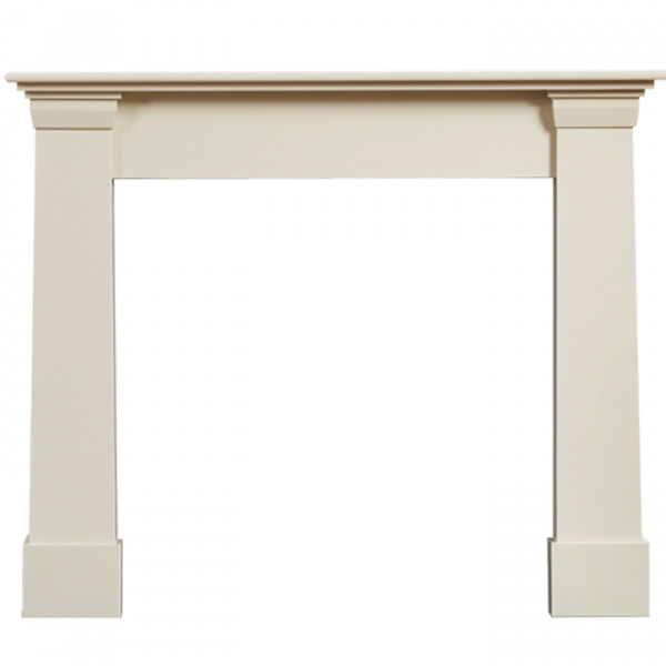 "Gallery Oslo 54"" Ivory Perla Marble Fireplace Surround"
