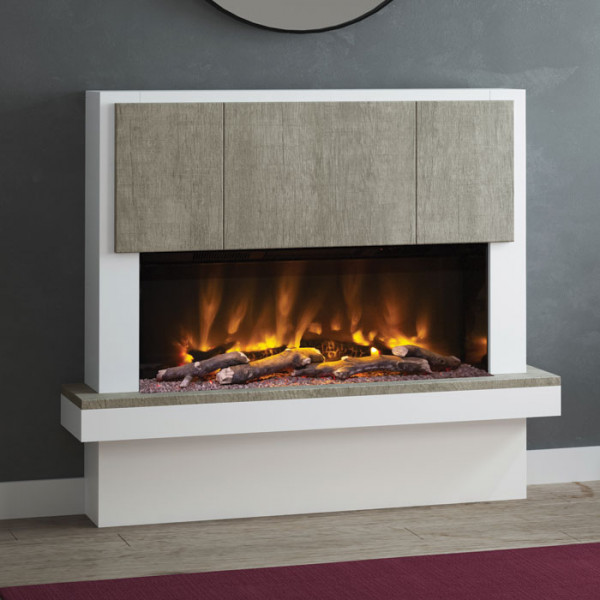 "Elgin & Hall Caselli 53"" Pryzm Electric Fireplace Suite"