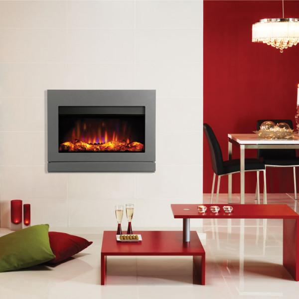 Gazco Riva2 670 Designio2 Electric Fire Iridium Room Set