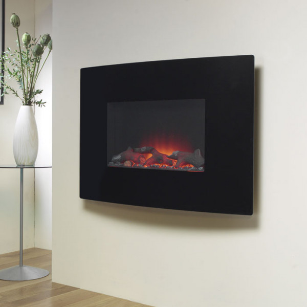 """Suncrest Radius 36"""" Wall Mounted Electric Fire"""
