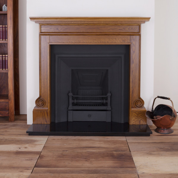 Carron Volute Wooden Fireplace with Royal Cast Iron Insert