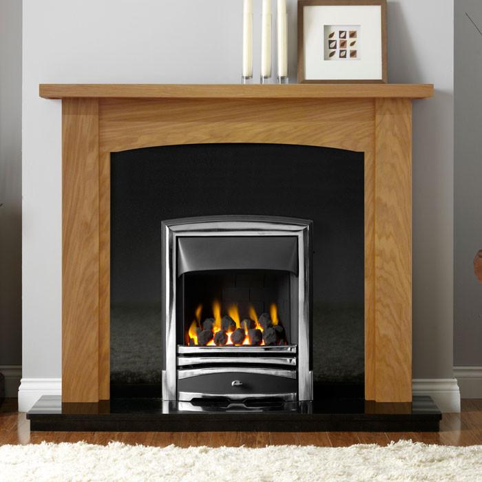 """Gallery Abbey 48"""" Light Oak Finish Fireplace Surround"""