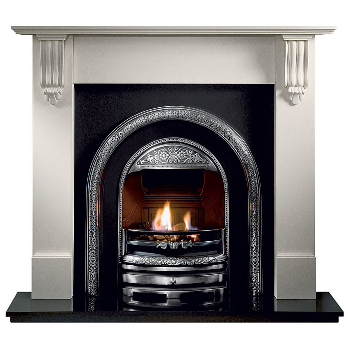 Gallery Richmond Stone Fireplace with Bolton Cast Iron Arch