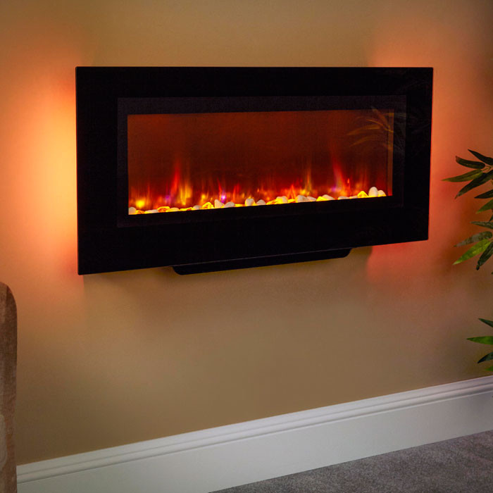 """Suncrest Santos 38"""" Wall Mounted Electric Fire"""