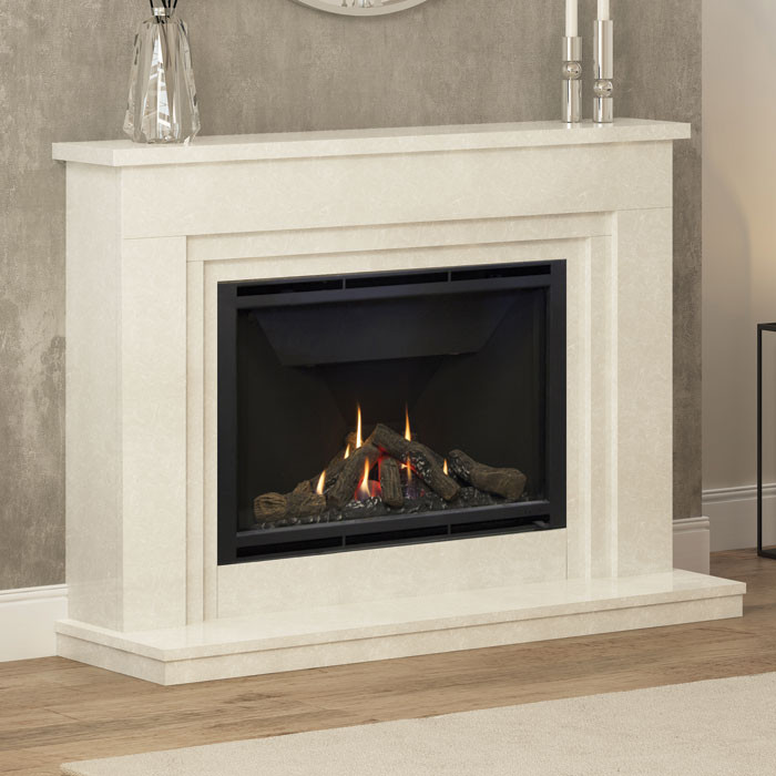 "Elgin & Hall Wayland 52"" Marble Gas Fireplace Suite"
