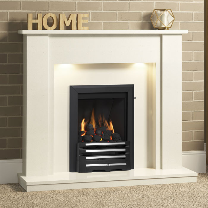 "Be Modern Elda 48"" Marble Fireplace Suite"