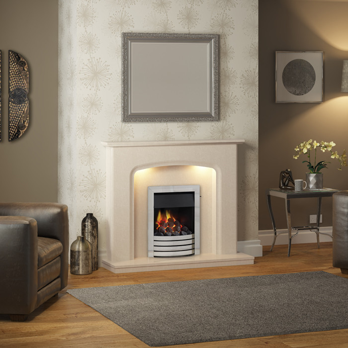 Elgin & Hall Siena Marble Fireplace Suite