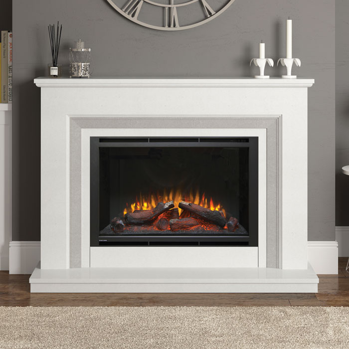 "Elgin & Hall Cassius 52"" Electric Fireplace Suite"