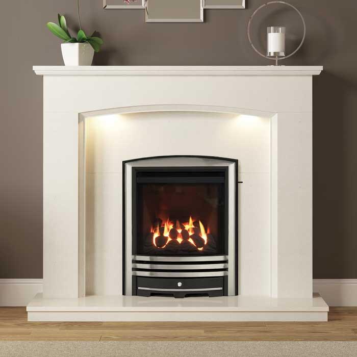 Emelia Marble Fireplace - White