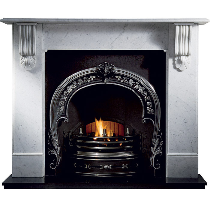 Gallery Kingston Marble Fireplace with Fitzwilliam Cast Iron Arch
