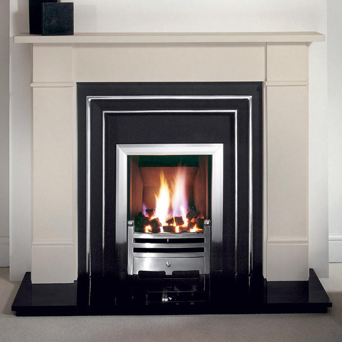 Gallery Brompton Stone Fireplace with Hamilton Cast Iron Fascia