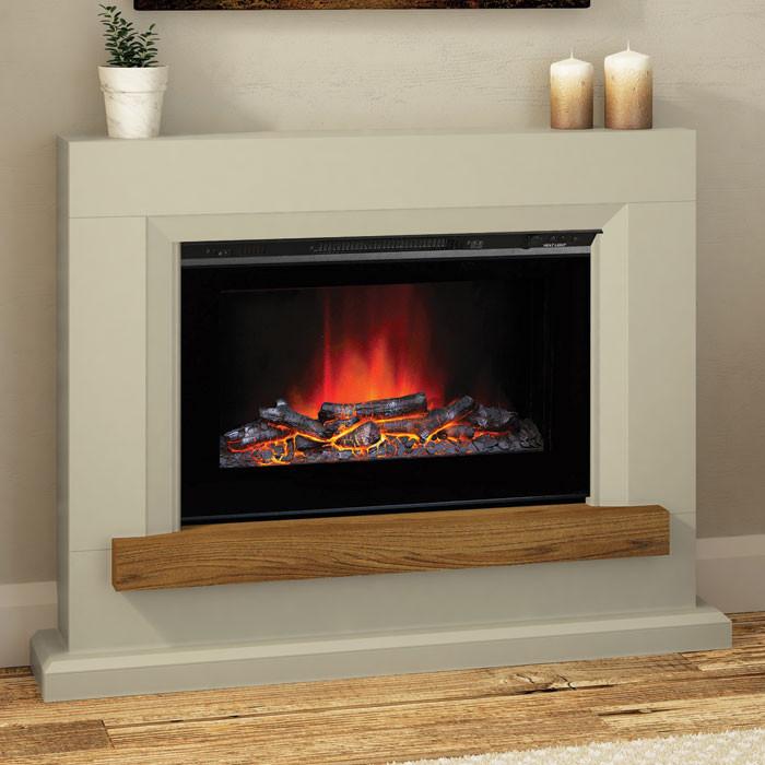 "Elgin & Hall Heywood 46"" Electric Fireplace Suite"