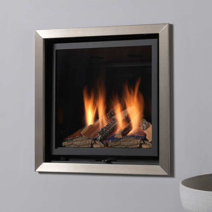 Valor Inspire 500 FS Hole in the Wall Gas Fire with Chrome Edge Trim