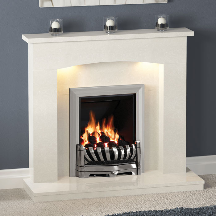 """Be Modern 45"""" Isabelle Marble Fireplace Suite"""