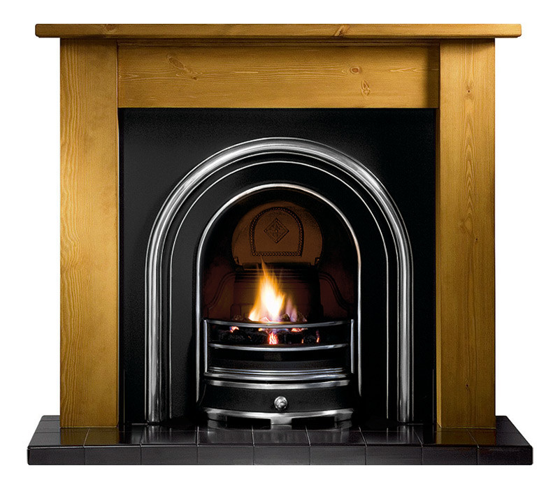 Gallery Lincoln Wood Fireplace with Jubilee Cast Iron Arch