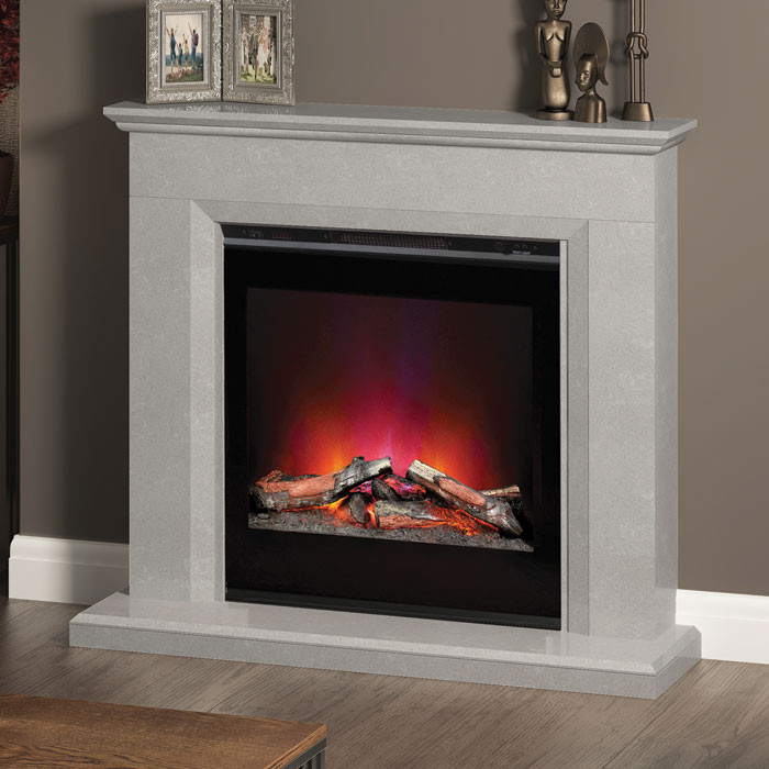 "Elgin & Hall Lorento 47"" Electric Fireplace Suite"