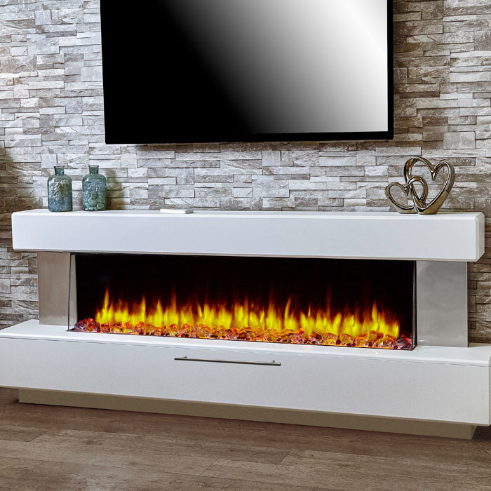 Katell Luminess electric fireplace suite