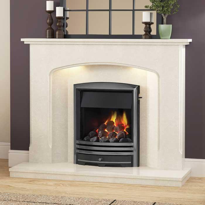 BeModern Octavia Manila Marble Fireplace