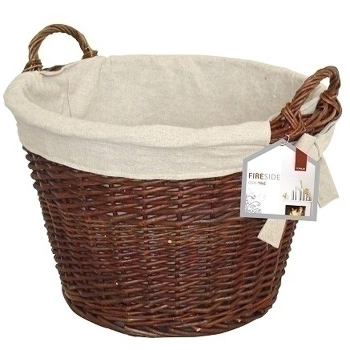 "Deville 20"" Round Wicker Basket With Jute Liner"