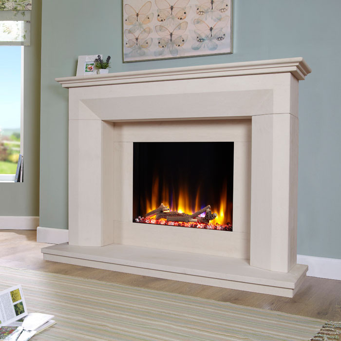Celsi Lille Limestone Fireplace