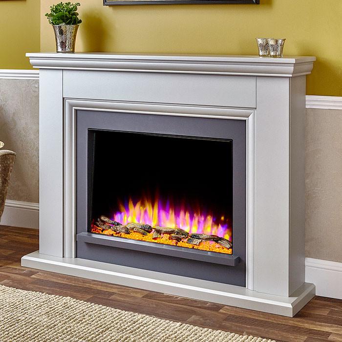 Katell Valdina electric fireplace suite