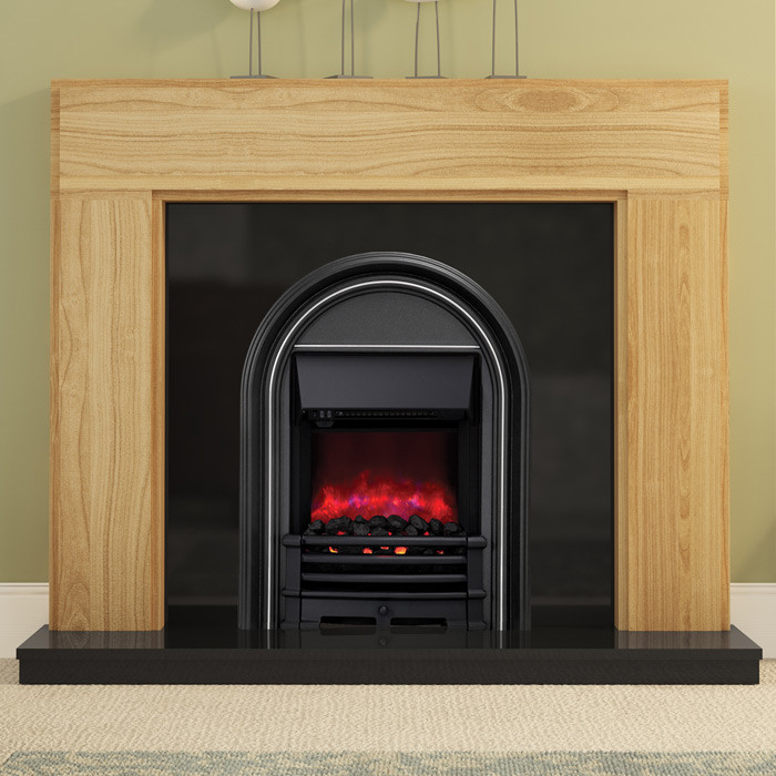 """Be Modern 52"""" Whinfell Solid Oak Electric Fireplace"""