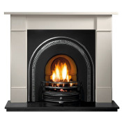 Gallery Brompton Stone Fireplace with Tradition Cast Iron Arch