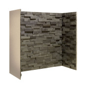 Gallery Staggered Black Slate Fireplace Chamber