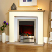 "Suncrest Bowburn 37"" Electric Fireplace Suite"