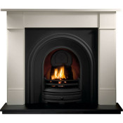 Gallery Brompton Stone Fireplace with Crown Cast Iron Arch