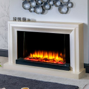 Katell Clarenza electric fireplace suite