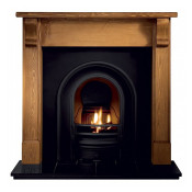 Gallery Bedford Timber Fireplace with Coronet Cast Iron Arch
