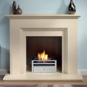 """Gallery Cranbourne 44"""" Stone Fireplace with Chamber"""