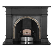 Carron Somerset Cast Iron Fireplace with Kensington Cast Iron Arch
